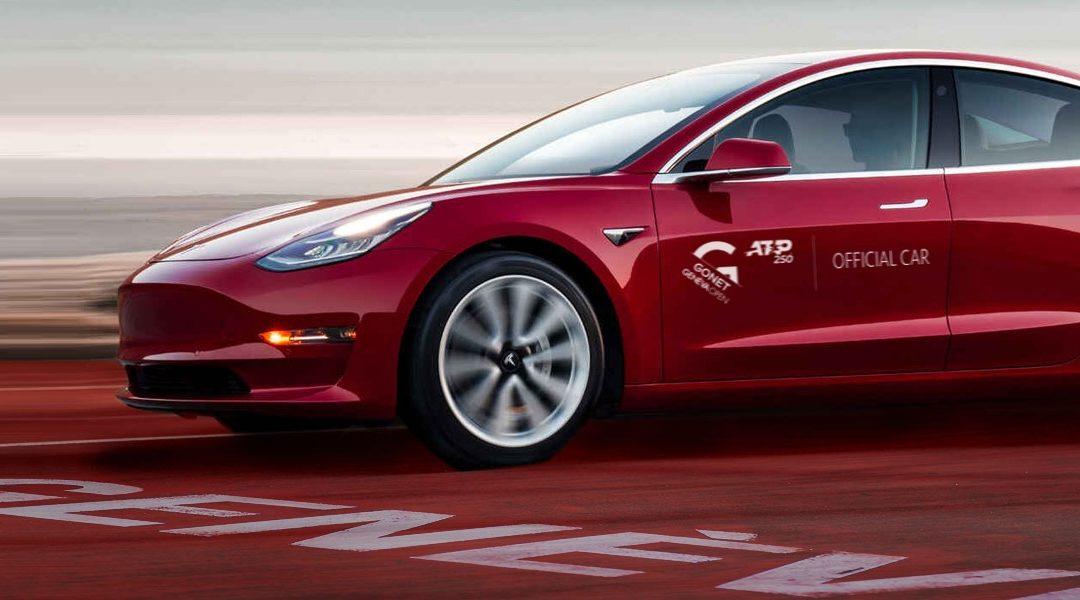 Tesla : Voiture officielle du Gonet Geneva Open